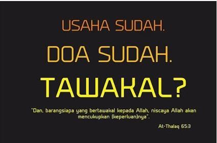 Tawakal menurut Imam Al-Ghazali