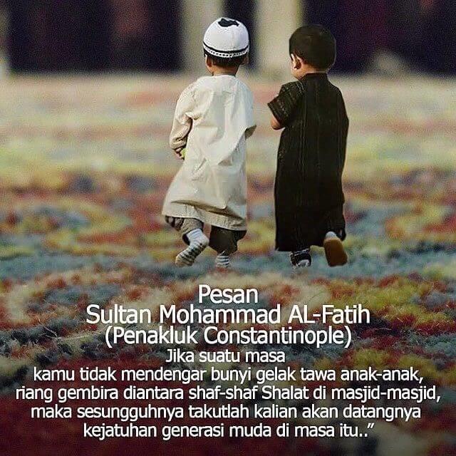 Jangan larang anak anak kecil ke masjid