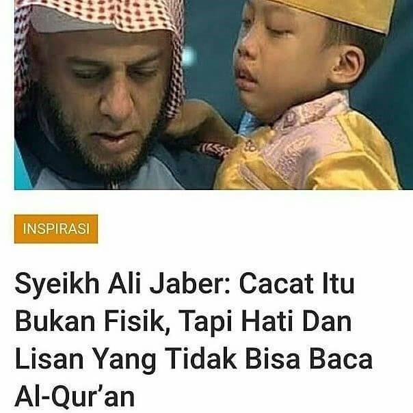 Cacat Itu Bukan Fisik tapi Hati & Lisan yang tidak bisa baca Al-Qur'an
