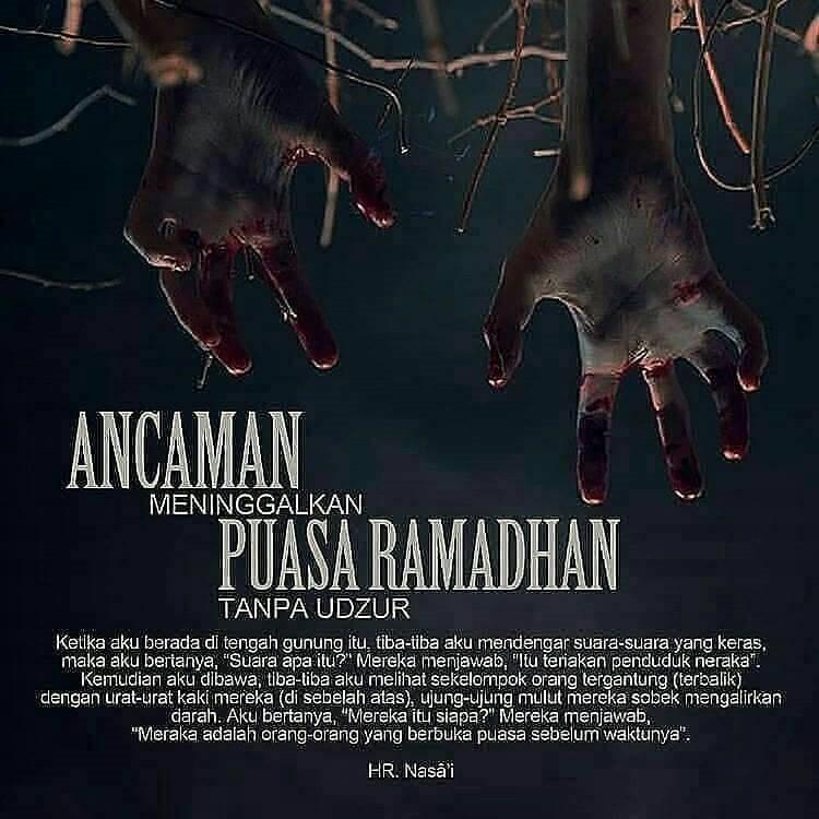 Meninggalkan puasa ramadhan adalah dosa besar